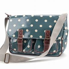 oilcloth polka dots cross shoulder bag bag