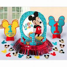 Mickey Mouse Decorations by Baby Mickey Mouse 1st Birthday Table Decoration Kit