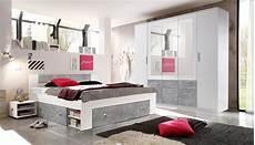Schlafzimmer Weiß Komplett - schlafzimmer komplett set 4 tlg stefan bett 180