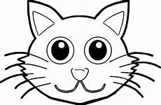 Katzengesicht Malvorlage Cat Front Coloring Page Wecoloringpage