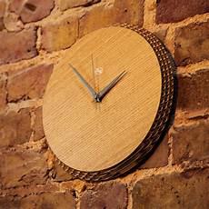 edge clock oak grey liquidesign studio touch of modern