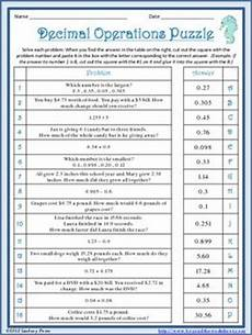 decimal worksheets mixed operations 7219 words the o jays and decimal on