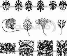 Nouveau Simple Floral Ornaments Stock Vector
