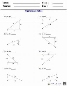 trigonometry word problems worksheets with answers 11171 trigonometric ratios worksheets math aids free worksheets and worksheets