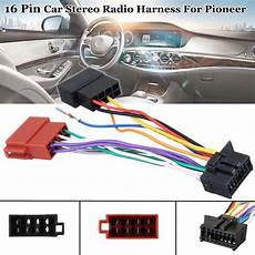 16 car stereo radio player iso wiring harness connector for pioneer 2003 in cables