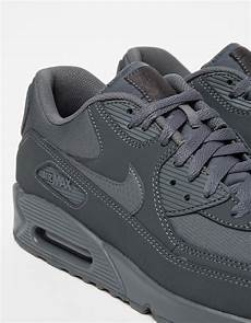 nike leather air max 90 essential in grey gray for
