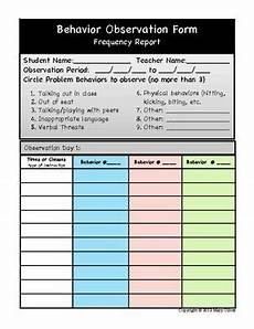 behavior observation made easy frequency data collection form tpt