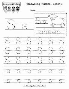 handwriting worksheets for free 21718 letter s writing practice worksheet free kindergarten worksheet for
