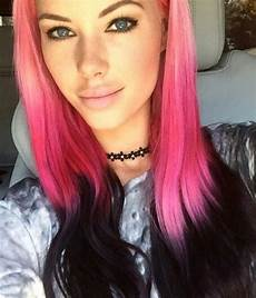 two toned black and pink hair colors ideas