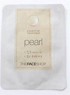 the face shop pearl essential mask sheet review
