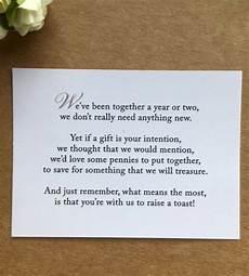 Money Poems For Wedding Invitations