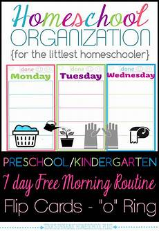 homeschool organization preschool kindergarten free morning routine flip cards homeschool
