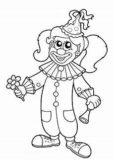 Fasching Ausmalbilder Clown Clown Karneval Ausmalbild M 228 Dchen Children Print