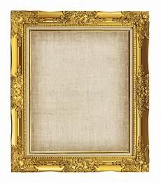 goldener bilderrahmen goldener bilderrahmen der barocken art mit segeltuch