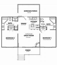 2 bedroom cottage floor plans two bedroom cottage plans marceladick