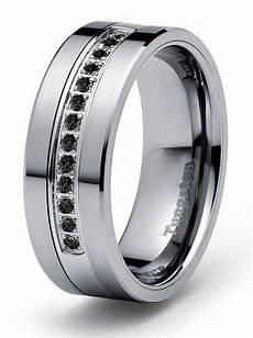 8mm 0 21ct black diamond tungsten modern men s wedding