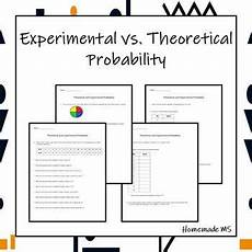 theoretical probability worksheets grade 6 6027 theoretical vs experimental probability activity and worksheets grade 6 math 7th grade math
