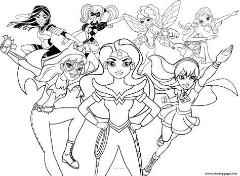 Superhero Girls Coloring