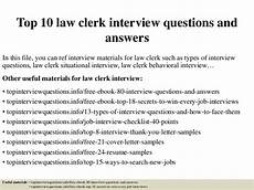 top 10 law clerk interview questions and answers