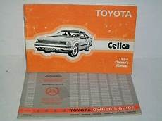 car repair manual download 1984 toyota celica on board diagnostic system 1984 toyota celica owners manual ebay