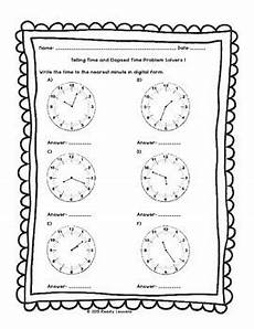 free printable telling time worksheets 3rd grade 3687 3rd grade telling time to the minute worksheets elapsed times worksheet 3 md 1
