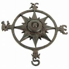 rustic cast iron rose compass nautical beach house wall art outdoor garden decor walmart com