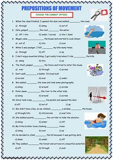 worksheet prepositions of movement prepositions of movement interactive worksheet