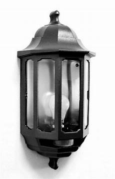 black asd half lantern outdoor outside wall light with