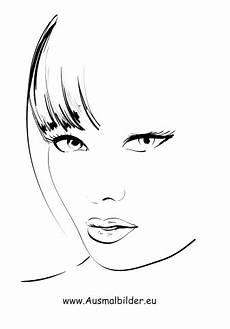 Malvorlagen Gesichter Text Malvorlage Frauengesicht Coloring And Malvorlagan