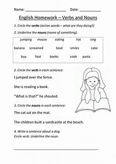 nouns and verbs worksheet ks1 by mignonmiller teaching
