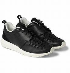nike roshe run woven leather sneakers leather sneakers