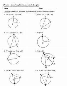 geometry circle worksheets 661 unit 10 circles homework 6 arc and angle measures