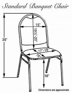standard banquet chair dimensions for later reference
