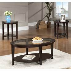 Or Oval Coffee Tables oval glass coffee table 3 set furniture home decor