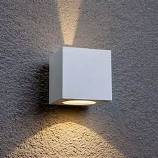 white led outdoor wall light jarno cube form lights co uk