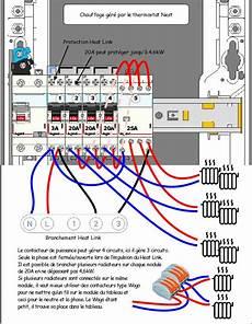 branchement thermostat chauffage electrique bogop