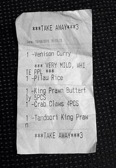 white ppl outraged by offensive curry receipt