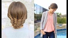 the woven updo cute hairstyles youtube