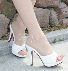 sandal high heels putih terbaru murah ryn fashion