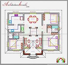 free kerala house plan for spacious 3 bedroom three bedrooms in 1200 square feet kerala house plan
