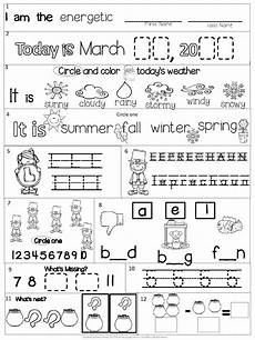 morning work kindergarten packet for march common core differentiated spring kindergarten