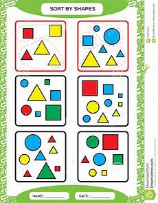 sorting and grouping worksheets 7809 sort by shapes sorting by shapes square circle triangle special sorter for