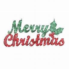 gemmy pre lit merry christmas sign with constant clear white incandescent lights at lowes com