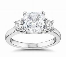 the gallery collection cushion cut three stone diamond engagement ring in platinum 3 8 ct tw