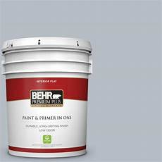 behr premium plus 5 gal 750e 3 skyline steel flat low odor interior paint and primer in one
