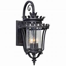 greystone 23 quot high forged iron outdoor wall light 1w054 ls plus