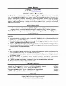 a resume template for a customer service manager you can