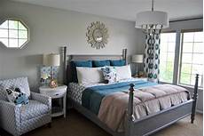 Teal Gray And White Bedroom Ideas by Studio 7 Interior Design Shop This Room Master Bedroom
