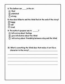 gilberto worksheet answer key 18717 gilberto and the wind by norma landry teachers pay teachers