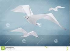 origami gabbiano uccello di carta gabbiano di origami illustrazione di